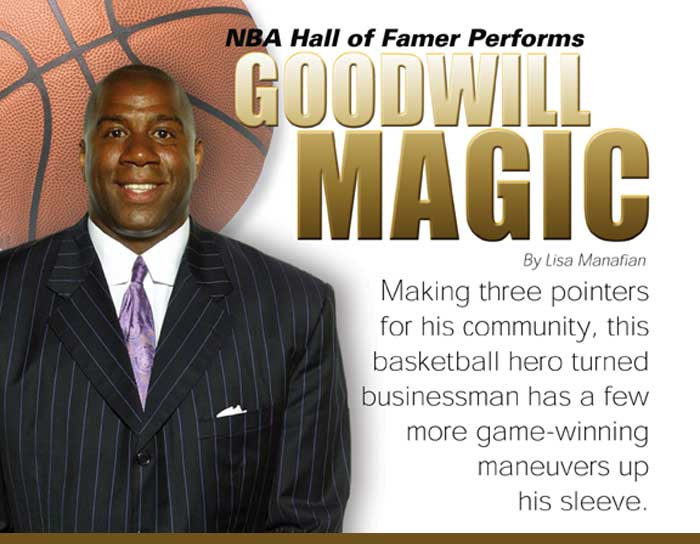 NBA Hall of Famer Performs Goodwill Magic