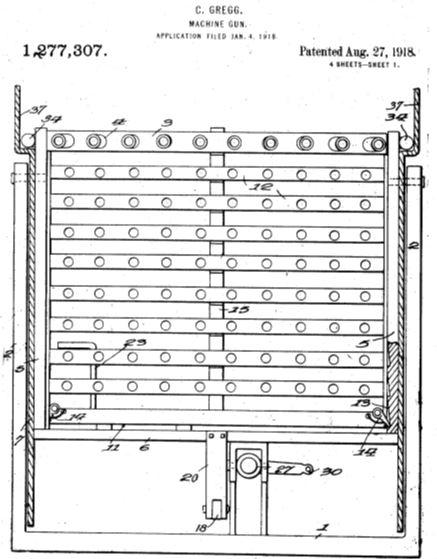 Clarence Greg's Machine Gun Patent (1918)